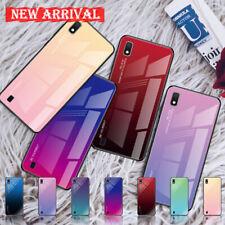 Para Samsung Galaxy J4 J6 Plus J8 2018 gradiente de vidrio híbrido duro caso cubierta trasera