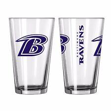 Baltimore Ravens Boelter NFL Game Day 16oz Pint Glass FREE SHIP!!