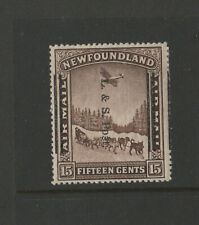 NEWFOUNDLAND #211ii perf 14.06 F-VF hinge remnant AIR MAIL overprint