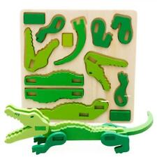 Montessori Mini 3D Puzzle Kids Educational Funny Toy Wooden Colorful Jigsaw UK