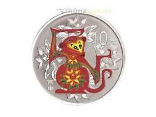 10 Yuan Lunar Jahr  Monkey Affe China 2016 1 oz Silber PP Farbe farbig coloured