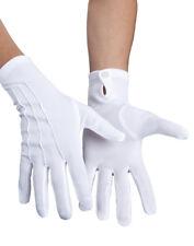 Gants blancs avec bouton adulte deguisement clown mario homme femme magicien