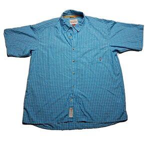 Simms Men's Fishing Camping Shirt Short Sleeve Lightweight Buttondown Size XL