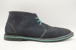 Cole Haan Navy Blue Leather Casual Lace Up Chukka Ankle Boots Men's 9 M