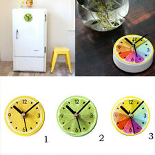 3inch Shower Clock Bathroom Kitchen Magnet Fridge Sticker Clock Wall Clock