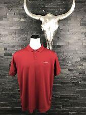 Columbia Shirt Men's XL Red Polo Golf Somni-Shade Sun Protection Short Sleeves