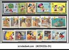 MINI LOT OF DISNEY STAMPS FROM DIFFERENT COUNTRIES - 18V MNH