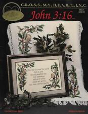 Cross My Heart ``John 3:16`` Pattern Leaflet CSL-61 Counted Cross Stitch Book