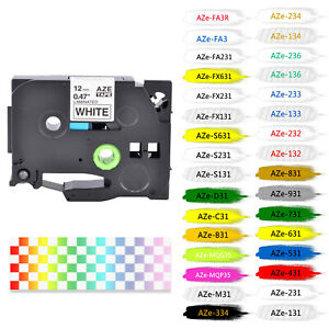 Compatible TZ TZe Label Tape Laminated for Brother P-Touch 6/9/12/18/24/36MM
