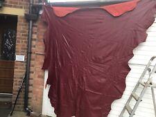 Large  ITALIAN HIDE Burgandy Full Skin  Leather