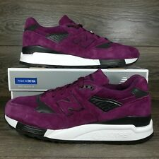 New Balance 998 'Imperial Purple' Made In USA Leather Suede Sneakers (M998CM)