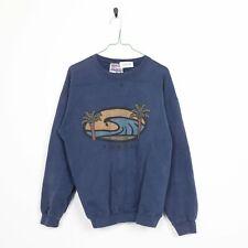 Vintage 90s Florida Grafik Großes Logo Sweatshirt Blau Groß L
