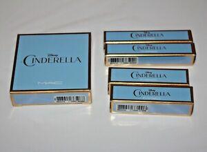 MAC Disney Cinderella Iridescent Powder/Pressed + Lip Glass & Lipstick Set 5 New