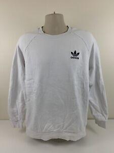 Adidas Trefoil White Ice Cream Cone Crew Neck Sweatshirt Mens Size L Large EUC