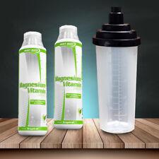 Best Body Nutrition Magnesium Vitamin Liquid vegan 2 x 500ml + 1 Eiweiß Shaker