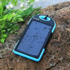 Solar Charger 5000mAh Solar Power Bank Dual USB Port Portable Charger *US SELLER