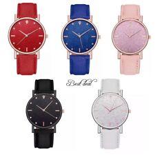 Señoras Reloj Relojes de Pulsera Cuarzo Analógico Mujeres Cuero Acero S Casual Regalo UK