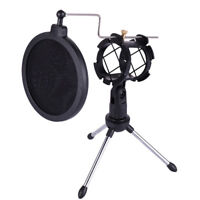 Foldable Desktop Microphone Tripod Stand With Shock Mount Mic Holder DACGRD I1