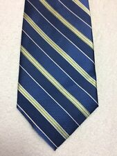 GEORGE MENS TIE BLUE WITH GREEN STRIPES NWOT 59 X 3.5