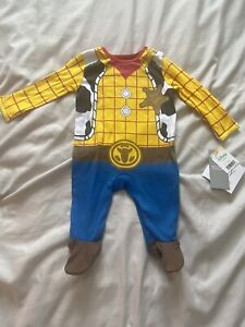 Disney George Toy Story Woody Cowboy All In One  Outfit Dress Up 0-3 Months