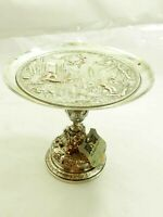 Fantastic Repoussé old English Compote Plate Circa 1865 with tag