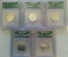 1999-S State SILVER Quarters ICG PR70DCAM Full 5 Coins Including Delaware RARE