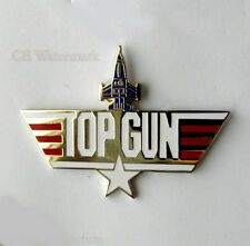 UNITED STATES NAVY USN TOP GUN LARGE LOGO PIN BADGE 2 INCHES