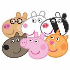 Peppa Pig VARIEDAD seis (6) Paquete Diversión Tarjeta Máscaras Para Fiestas