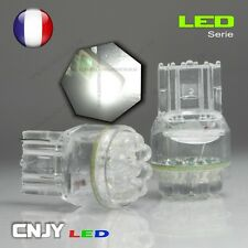 2 AMPOULES CNJY 9 LED RONDE CULOT T20 W21W 7440 BLANC HID XENON AUTO 12V