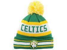Boston Celtics New Era Green White Gold NBA Pom Knit Cap Hat Child size