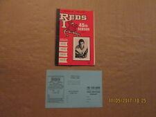 AHL Rhode Island Reds Vintage Defunct Circa 1970-71 45TH Sesaon Hockey Program