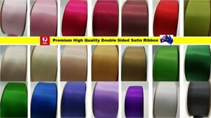 NEW Double Sided Satin Ribbon Premium High Quality16mm 25mm 38mm 50mm