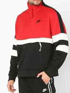 Nike AIR Half Zip Jacket University Red/Black AR1839-657 Men's Size MEDIUM