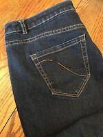 Lane Bryant Genius Fit Bootcut Dark Blue Jeans Stretch Womens 18 Regular (z7)