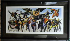 Justice Society The GOLDEN AGE Framed GICLEE #224/500 HAND SIGNED Alex Ross