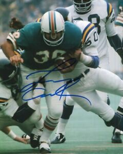 Larry Csonka Autographed 8x10 Photo Football Player Miami Dolphins Fullback COA