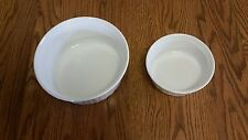 Corning Ware French White Round F-5-B 1.6L & F-16-B 500ml Casseroles