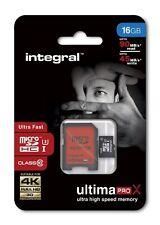 INTEGRAL 16GB MicroSD CLASS 10 FOR GO PRO HERO 4 & HERO 3+ HERO+ LCD  90MB/s