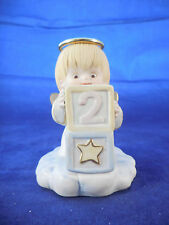 """PORCELAIN 2 YEAR OLD ANGEL - THAILAND - WITH MESSAGE ON BOTTOM 3 1/2"""""""