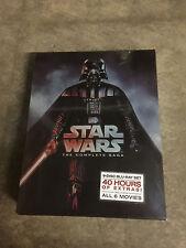 STAR WARS THE COMPLETE SAGA (Episodes I-VI 1,2,3,4,5,6 9 BLU-RAY Discs Box Set)