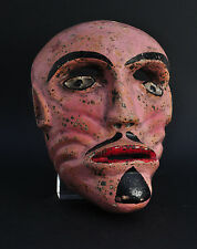 Ancien masque Mexique Bois sculpté Antique Mexican Mask Dance Wood carved