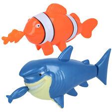 2x Badespielzeug für Kinder, Wasserspielzeug zum Aufziehen, Fisch/Hai