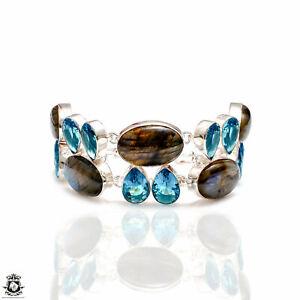 Labradorite Blue Topaz Bracelet B4242