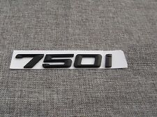 Black 750 i Number Trunk Rear Letters Emblem Decal Sticker for BMW 7 Series 750i