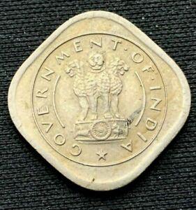 1950 India 1/2 Anna Coin XF+  Mumbai Mint     World Coin Copper Nickel    #K709