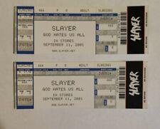 "Rare Slayer 2001 ""God Hates Us All"" Promotional Ticket Thrash Metal memorabilia"