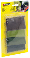 Noch 07167 HO Laub Set, olive, hellgrün, mittelgrün, dunkelgrün, sehr fein