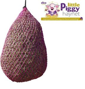Elico Pink Little Piggy Slow Trickle Feed Very Small Hole Haynet Haylage Hay Net