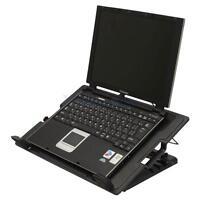"9-17"" USB Notebook Laptop Cooling Adjustable Stand Cooler Pad Quiet Fans Black"