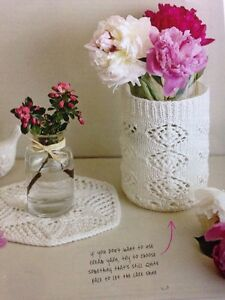 Lacy Home Accessories Knitting Pattern - Vase Cover/Coaster